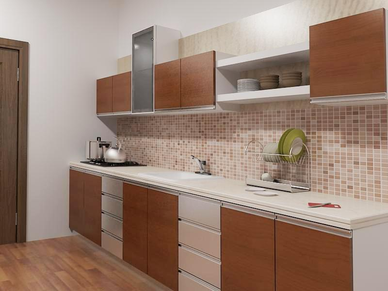 Design interior kitchen set minimalis type for Kitchen set kayu